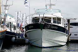 UK ENGLAND SOUTHAMPTON 17SEP11 - The Lysithea by Hardy Marine, running on two MAN diesel engines on display at the Southampton Boatshow...The Southampton Boat Show is the biggest water based boat show in Europe. It has been held every September since 1969 in Mayflower Park, Southampton, England.....jre/Photo by Jiri Rezac..© Jiri Rezac 2011