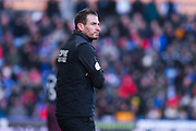 Jan Siewert of Huddersfield Town (Manager) looks on during the Premier League match between Huddersfield Town and Arsenal at the John Smiths Stadium, Huddersfield, England on 9 February 2019.