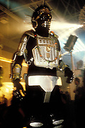 A clubber in robot costume, Ibiza 1995