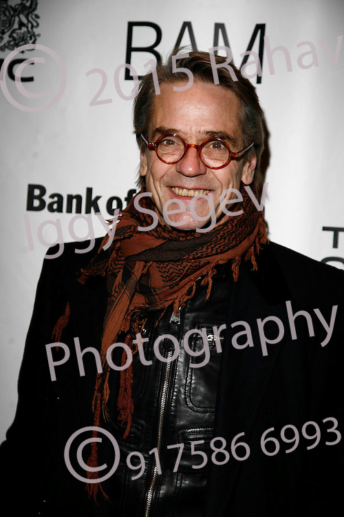 Jeremy Irons attends The Bridge Project benefit dinner and performance at BAM's Howard Gilman Opera House on February 17, 2009. ..Photo ; Rahav Segev/photopass.com