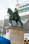 Bronze statue of King Carlos III, Puerta del Sol, Madrid, Spain
