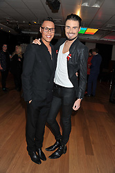 Left to right, GOK WAN and RYLAN CLARK at West End Eurovision 2013 held at the  Dominion Theatre, London on 23rd May 2013.