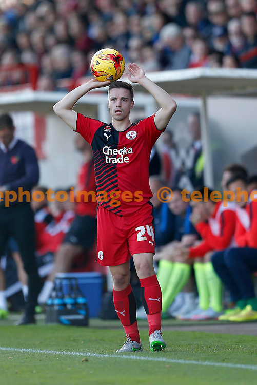 Crawley&rsquo;s Mitch Hancox during the Sky Bet League 2 match between Crawley Town and York City at the Checkatrade.com Stadium in Crawley. October 31, 2015.<br /> James Boardman / Telephoto Images<br /> +44 7967 642437
