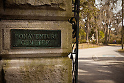 Gate to historic Bonaventure Cemetery in Savannah, Georgia, USA.
