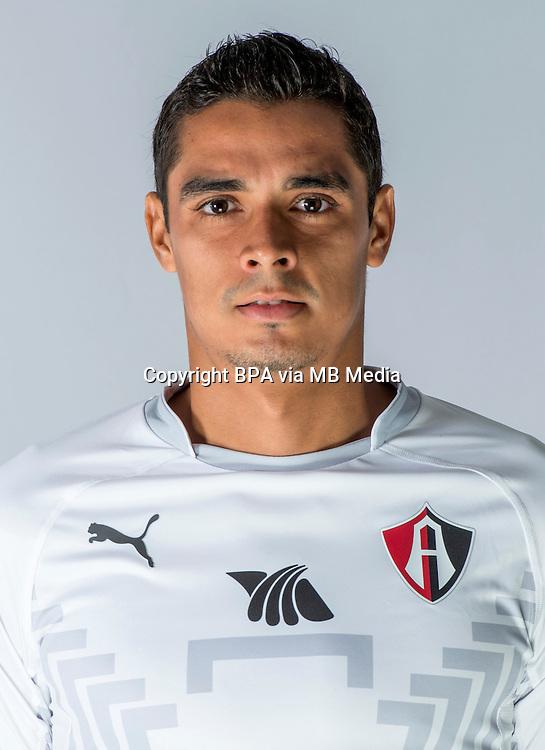 """Mexico League - BBVA Bancomer MX 2014-2015 -<br /> Rojinegros - Club Atlas de Guadalajara Fc / Mexico - <br /> Alan Alfredo Lopez Rosales """" Alan Lopez """""""