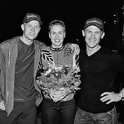 Thor Hushovd, Gunn Rita Dahle og Rune H&oslash;ydal<br /> Birkebeiner rittet 1999<br /> Lillehammer