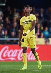November 4, 2018 - Vila-Real, Castellon, Spain - Samu Chukwueze of Villarreal CF reacts during the La Liga match between Villarreal CF and Levante UD at La Ceramica Stadium on November 4, 2018 in Vila-real, Spain  (Credit Image: © Maria Jose Segovia/NurPhoto via ZUMA Press)