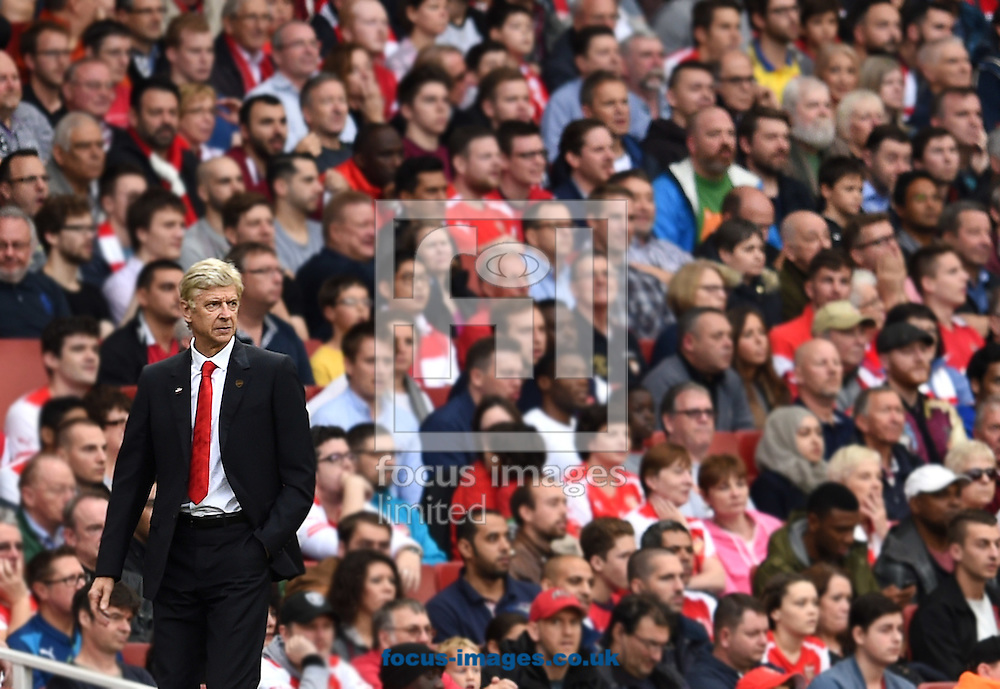 Manager of Arsenal Arsene Wenger during the Barclays Premier League match against Hull City at the Emirates Stadium, London<br /> Picture by Andrew Timms/Focus Images Ltd +44 7917 236526<br /> 18/10/2014