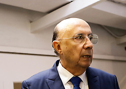 """October 5, 2018 - SãO Paulo, Brazil - SÃO PAULO, SP - 05.10.2018: MEIRELLES CONHECE UNIDOS CONTRA CORRUPÇÃO - The MDB presidential candidate, Henrique Meirelles, made an institutional visit to learn about the initiative that already has the support of more than 330 thousand people and 83 civil society organizations, &quompanha Una Unidos Contra Corrupção"""", in the Pinheiros district, west of capital of São Paulo, on thn the afternoon of this Friday (05) (Credit Image: © Aloisio Mauricio/Fotoarena via ZUMA Press)"""