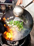 Stir frying at Imbi market