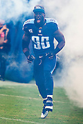 NASHVILLE, TN - OCTOBER 25:  DaQuan Jones #90 of the Tennessee Titans jogs onto the field before a game against the Atlanta Falcons at Nissan Stadium on October 25, 2015 in Nashville, Tennessee.  The Falcons defeated the Titans 10-7.  (Photo by Wesley Hitt/Getty Images) *** Local Caption *** DaQuan Jones