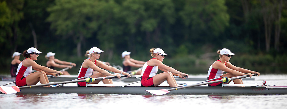 London, Ontario ---11-08-05--- Canadian women's 8 rowing crew take to the water on Fanshawe Lake in London, Ontario for an early morning practice August 5, 2011..GEOFF ROBINS The Globe and Mail
