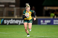 SYDNEY, AUSTRALIA - JULY 19: Samantha Treherne (14) of the Wallaroos runs the ball during the second rugby test match between the Australian Wallaroos and Japan on July 19, 2019 at North Sydney Oval in Sydney, Australia. (Photo by Speed Media/Icon Sportswire)