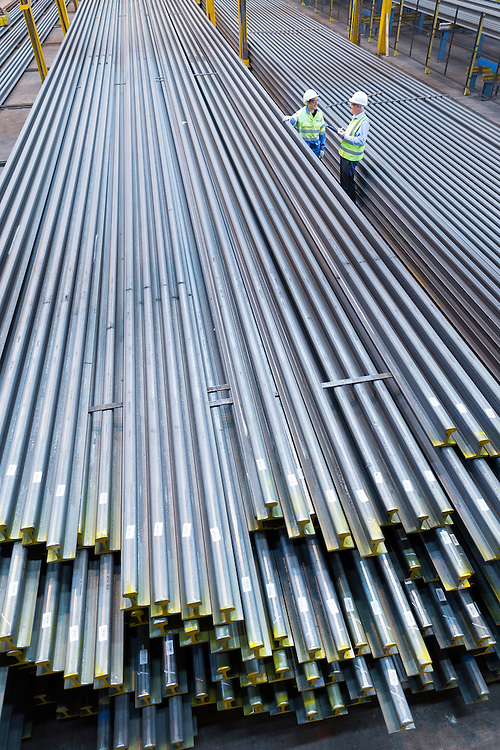 Aug 2014 - Tata Steel , Scunthorpe site - Rail products - welded rail at TATA Steel