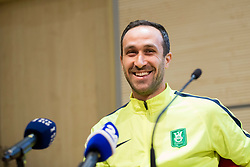 Dragan Mrdja at press conference of NK Olimpija before spring part season of PLTS, on February 21, 2017 in Austria Trend Hotel, Ljubljana, Slovenia. Photo by Urban Urbanc / Sportida