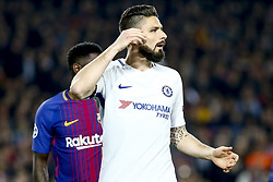 March 14, 2018 - Barcelona, Catalonia, Spain - Chelsea FC forward Olivier Giroud (18) during UEFA Champions League match between FC Barcelona and Chelsea FC at Camp Nou Stadium corresponding of Round of 16, Second leg on March 14, 2018 in Barcelona, Spain. (Credit Image: © Urbanandsport/NurPhoto via ZUMA Press)