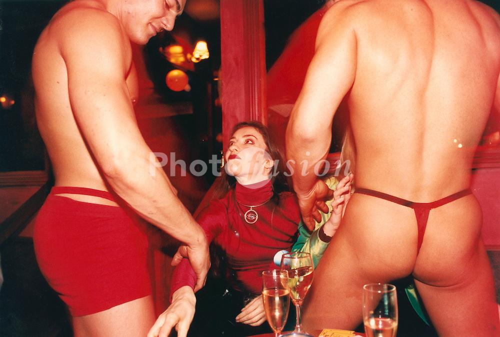 Male lap dancing club; Volonte night club; central London