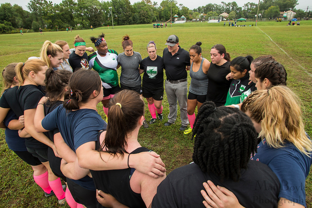 South Jersey Women's Rugby vs North Philadelphia Irish at Garden State Rotary Complex in Cherry Hill, NJ on Saturday October 1, 2016. (photo / Mat Boyle)