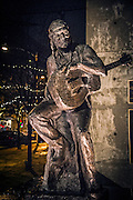 Willie Nelson Statue at ACL Live at the Moody Theater, Austin, Texas, January 31, 2015.