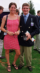 MISS TAMARA VESTEY and the HON.PEREGRINE HOOD FRIENDS OF HRH PRINCE WILLIAM, at a polo match in Berkshire on 25th July 1999.MUM 219