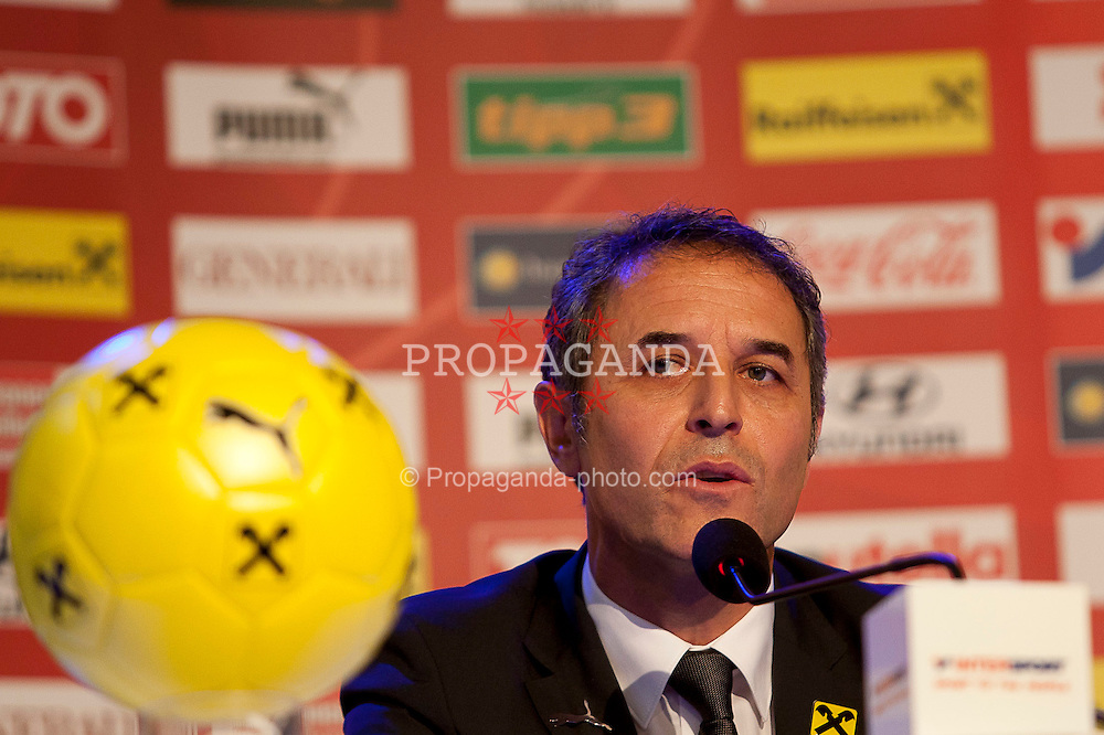 04.10.2011, Oberwart, AUT, OeFB, Praesentation Nationalteam Trainer, im Bild der neue OeFB Teamchef Marcel Koller // during the presentation of the new OeFB coach in Oberwart, AUT, on 2011-10-04, EXPA Pictures © 2011, PhotoCredit: EXPA/ Erwin Scheriau