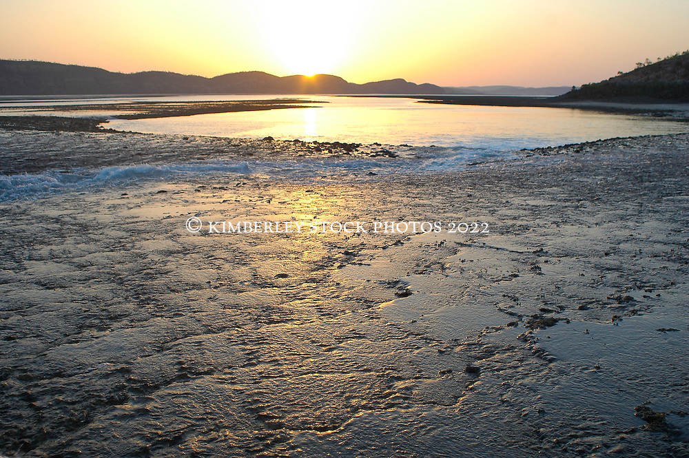Early morning light over Turtle Reef in Talbot Bay on the Kimberley coast.