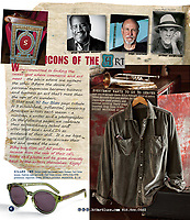 My tintype portraits of Arthur Meyerson illustrate a 32 Bar Blues clothing catalog that showcases working artists.