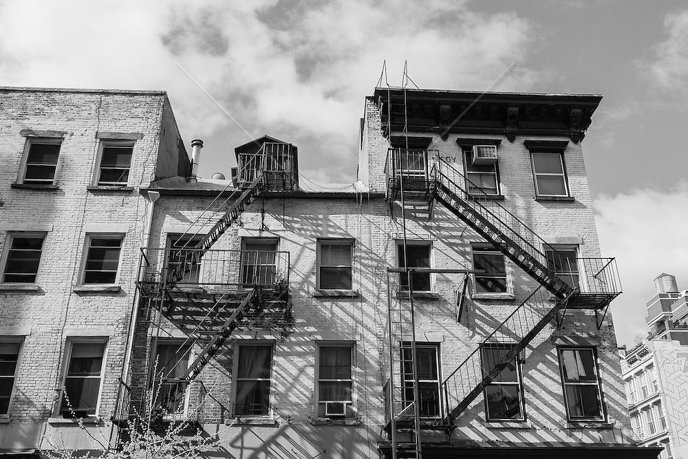 Brick apartment building in Soho, New York City