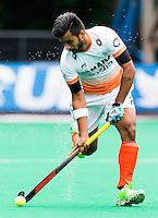 BRASSCHAAT (ANTWERP - Belgium) -  Manpreet  SINGH of India during the Fintro Hockey World League Semi-Final match between the men of India and France (3-2) COPYRIGHT WORLDSPORTPICS KOEN SUYK