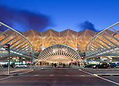 Oriente Station (Gare do Oriente), Lisbon designed by architect Santiago Calatrava, 1988