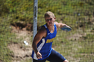 Oxford High's Tom Kendricks throws the discus at the Region 1-5A Track Meet at Oxford High School in Oxford, Miss. on Monday, May 3, 2010.