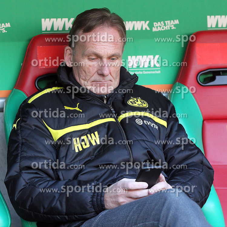 20.03.2016, WWK Arena, Augsburg, GER, 1. FBL, FC Augsburg vs Borussia Dortmund, 27. Runde, im Bild Hans-Joachim Watzke // during the German Bundesliga 27th round match between FC Augsburg and Borussia Dortmund at the WWK Arena in Augsburg, Germany on 2016/03/20. EXPA Pictures &copy; 2016, PhotoCredit: EXPA/ Eibner-Pressefoto/ Langer<br /> <br /> *****ATTENTION - OUT of GER*****