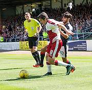 Rangers' Joey Barton holds off Dundee's Faissal El Bakhtaoui - Dundee v Rangers, Ladbrokes Scottish Premiership at Dens Park<br /> <br />  - © David Young - www.davidyoungphoto.co.uk - email: davidyoungphoto@gmail.com