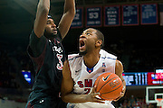 DALLAS, TX - FEBRUARY 6: Shawn Williams #2 of the SMU Mustangs posts up against Anthony Lee #3 of the Temple Owls on February 6, 2014 at Moody Coliseum in Dallas, Texas.  (Photo by Cooper Neill) *** Local Caption *** Shawn Williams; Anthony Lee