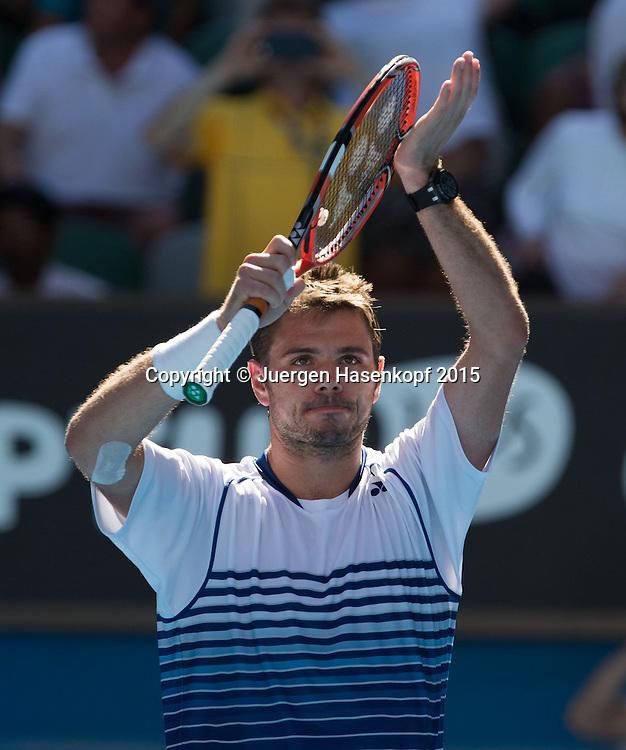 Stan Wawrinka (SUI)<br /> <br />  - Australian Open 2015 -  -  Melbourne Park Tennis Centre - Melbourne - Victoria - Australia  - 24 January 2015. <br /> &copy; Juergen Hasenkopf