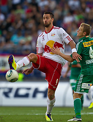 28.08.2011, Red Bull Arena, Salzburg, AUT, 1. FBL, RED BULL SALZBURG vs RAPID WIEN, im Bild Stefan Maierhofer (Red Bull Salzburg, #9), Mario Sonnleitner (SK Rapid Wien, #6) // during the Austrian Bundesliga Match, RED BULL SALZBURG against RAPID VIENNA, Red Bull Arena, Salzburg, 2011-08-28, EXPA Pictures © 2011, PhotoCredit: EXPA/ J. Feichter