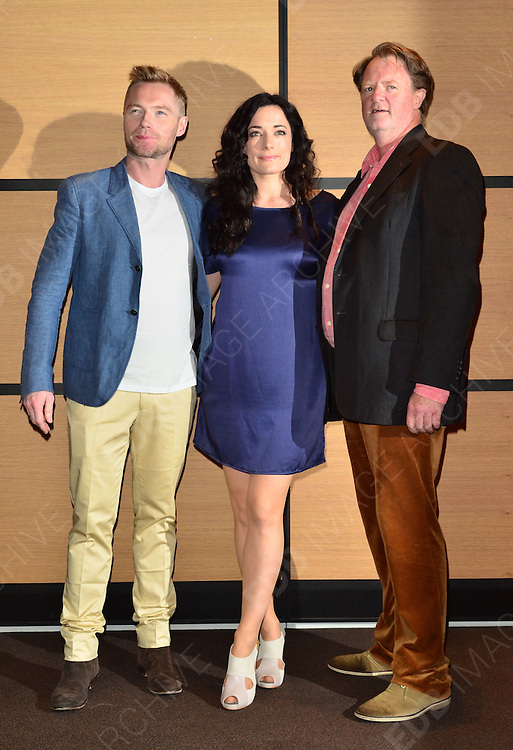 21.MAY.2012. CANNES<br /> <br /> RONAN KEATING, LAURA MICHELLE KELLY AND MARK LAMPRELL AT THE GODDESS PHOTOCALL DURING THE 65TH CANNES FILM FESTIVAL, CANNES, FRANCE.<br /> <br /> BYLINE: EDBIMAGEARCHIVE.COM/JOE ALVAREZ<br /> <br /> *THIS IMAGE IS STRICTLY FOR UK NEWSPAPERS AND MAGAZINES ONLY*<br /> *FOR WORLD WIDE SALES AND WEB USE PLEASE CONTACT EDBIMAGEARCHIVE - 0208 954 5968*