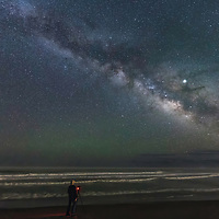 Photographing the wonders of the Creation, Milky Way over Cape Hatteras