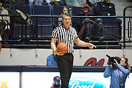 "Referee Doug Shows at Ole Miss vs. South Carolina at the C.M. ""Tad"" Smith Coliseum in Oxford, Miss. on Saturday, January 10, 2015. (AP Photo/Oxford Eagle, Bruce Newman)"
