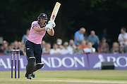 Middlesex T20 captain, batsman Dawid Malan during the NatWest T20 Blast South Group match between Middlesex County Cricket Club and Hampshire County Cricket Club at Uxbridge Cricket Ground, Uxbridge, United Kingdom on 27 May 2016. Photo by David Vokes.