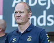 Cheftræner Niels Frederiksen (Brøndby IF) under kampen i 3F Superligaen mellem Brøndby IF og Silkeborg IF den 14. juli 2019 på Brøndby Stadion (Foto: Claus Birch)