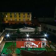 FuoriSalone2010 Zona Tortona; vista aerea dello Stand Puma in via Tortona<br /> <br /> Puma store inside a courtyard in Tortona Street