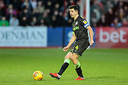 Forest Green Rovers Lloyd James(4) passes the ball forward during the EFL Sky Bet League 2 match between Cheltenham Town and Forest Green Rovers at Jonny Rocks Stadium, Cheltenham, England on 29 December 2018.
