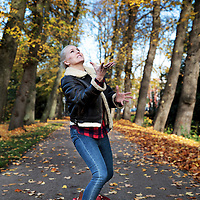 Nederland, Amsterdam, 3 november 2015.<br /> Actrice, zangeres Hadewych Minis.<br /> <br /> <br /> <br /> Foto: Jean-Pierre Jans