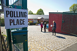 Pictured: Voters makes their choices in sunny Stirling today as part of  the local council elections<br /> <br /> <br /> <br /> Ger Harley | EEm 4 May 2017