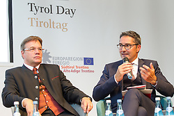 23.08.2015, Alpbach, AUT, Forum Alpbach 2015, Tiroltag, feierliche Eröffnung, im Bild v.l. Tirols Landeshauptmann Günther Platter (ÖVP), Südtirols Landeshauptmann Arno Kompatscher (SVP) // f.l.t.r. Günther Platter (Governor of the Province of Tyrol) Arno Kompatscher (Governor of the Autonomous Province of Bolzano) during the opening Ceremony of 2015 European Forum Alpbach in Alpbach, Austria on 2015/08/23. EXPA Pictures © 2015, PhotoCredit: EXPA/ Johann Groder