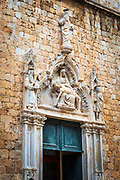 Entrance to the Franciscan Monastery, old town Dubrovnik, Dalmatian Coast, Croatia