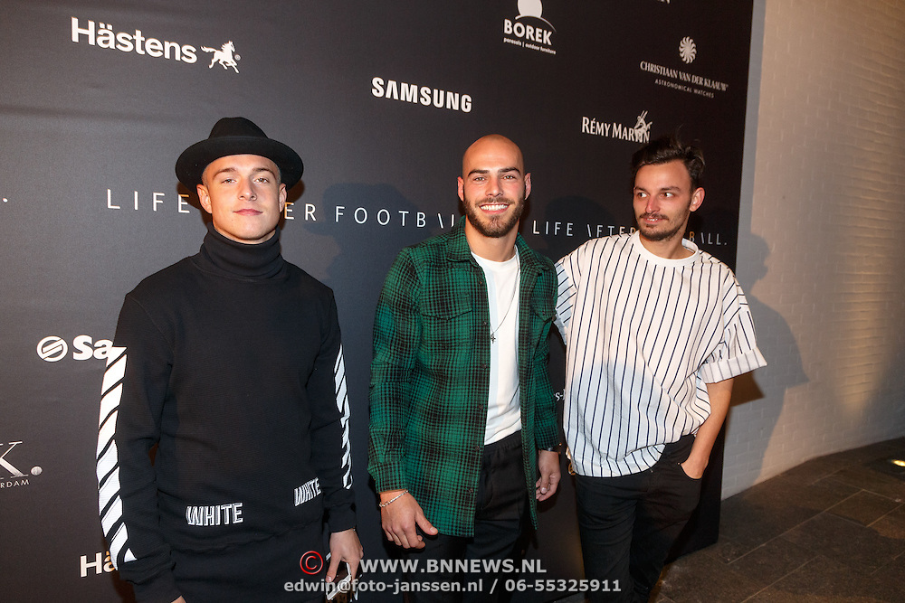 NLD/Amsterdam/20151110 - Life After Football Award 2015, Christopher Peterson, Ruud Boymans en ..............