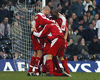 Photo: Paul Thomas.<br /> Fulham v Leyton Orient. The FA Cup. 08/01/2006.<br /> <br /> Orient celebrate Joe Kieth's goal.