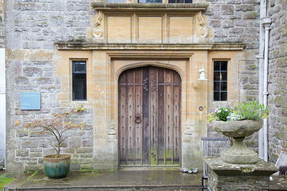 Front entrance, Pickwell Manor, Georgeham, North Devon, UK. CREDIT: Vanessa Berberian for The Wall Street Journal<br /> HOUSESHARE